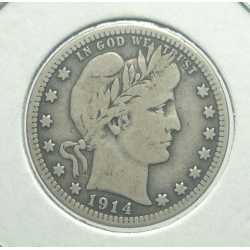 USA - Barber Quarter 1914