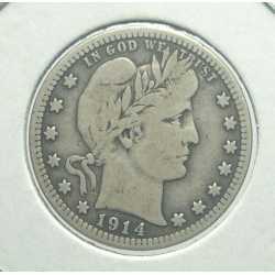 USA - Barber Quarter 1914