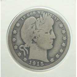 USA - Barber Quarter 1915