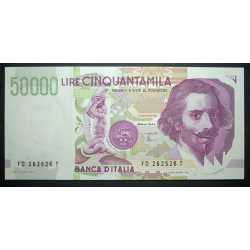 50.000 Lire Bernini II° 1997