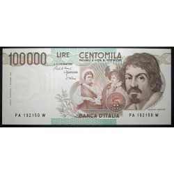 100.000 Lire Caravaggio I° Tipo 1983