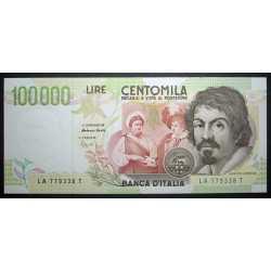 100.000 Lire Caravaggio II° Tipo 1994