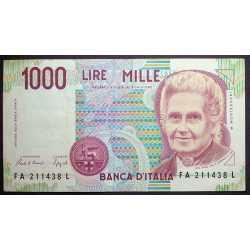 1000 Lire Montessori 1990