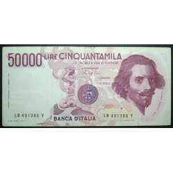 50.000 Lire Bernini I° 1985