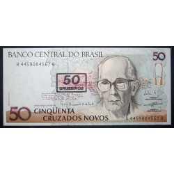 Brazil - 50 Cruzeiros su 50 Crusados Novos