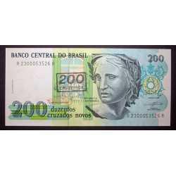 Brazil - 200 cruzeiros su 200 crusados novos