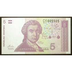 Croatia - 5 Dinar 1991