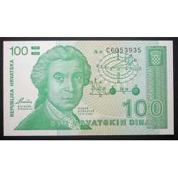 Croatia - 100 Dinar 1991