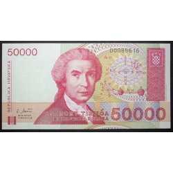 Croatia - 50.000 Dinar 1993