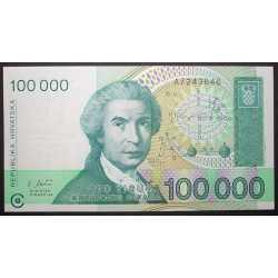 Croatia - 100.000 Dinar 1993