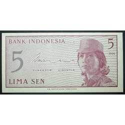 Indonesia - 5 Sen 1964 Replacement