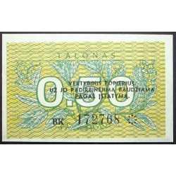 Lithuania - 0,50 Talonas 1991
