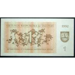 Lithuania - 1 Talonas 1992