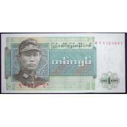 Myanmar - 1 Kyat 1972