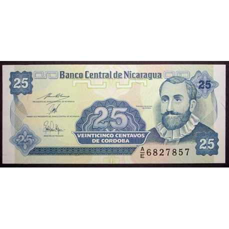 Nicaragua - 25 Centavos 1991