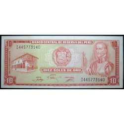 Perù - 10 Soles de Oro 1976