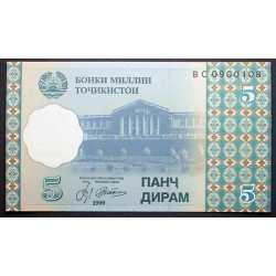 Tajikistan - 5 Diram 1999