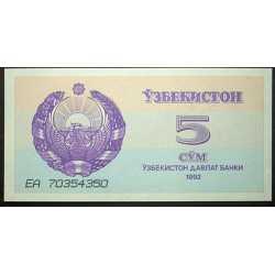 Uzbekistan - 5 Sum 1992