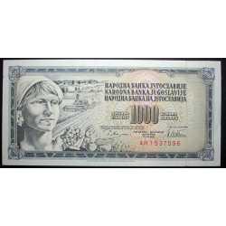 Yugoslavia - 1000 Dinara 1978