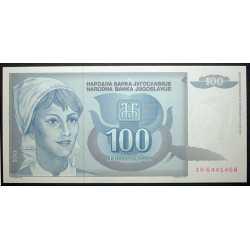 Yugoslavia - 100 Dinara 1992
