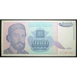 Yugoslavia - 50.000 Dinara 1993