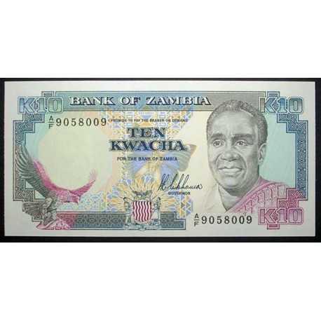 Zambia - 10 Kwacha 1989
