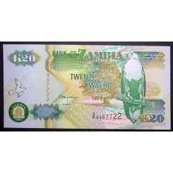 Zambia - 20 Kwacha 1992