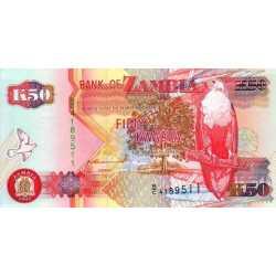 Zambia - 50 Kwacha 1992