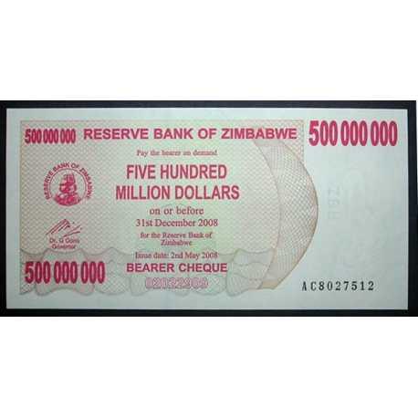 Zimbabwe - 500.000.000 Dollars 2008