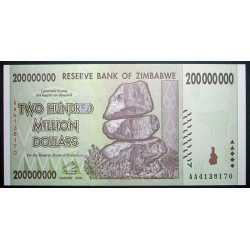 Zimbabwe - 200.000.000 Dollars 2008