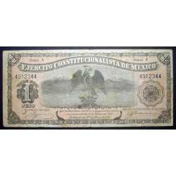 Mexico - 1 Peso 1914 Ejercito Costitucionalista