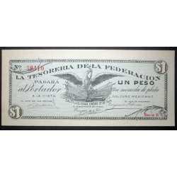 Mexico - 1 Peso 1914 La Tesoreria della Federacion