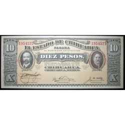 Mexico - 10 Pesos 1915 Chihuahua