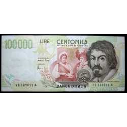 100.000 Lire Caravaggio II 1997