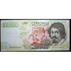 100.000 Lire Caravaggio II 1995