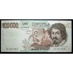 100.000 Lire Caravaggio I 1992