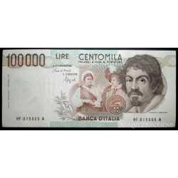 100.000 Lire Caravaggio I 1993