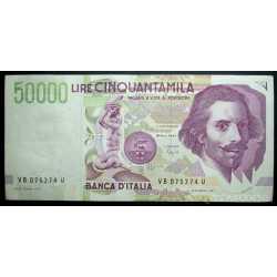 50.000 Lire Bernini II 1992