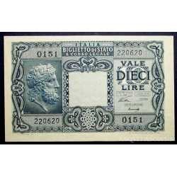 10 Lire Giove 1944