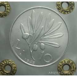 10 Lire 1948 - Leg. Capovolta