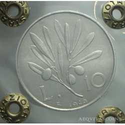 10 Lire 1949 - Leg. Capovolta