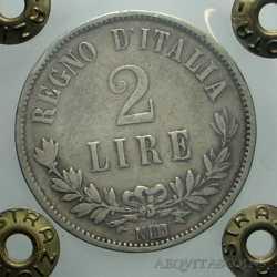Vitt. Eman. II - 2 Lire 1863 N