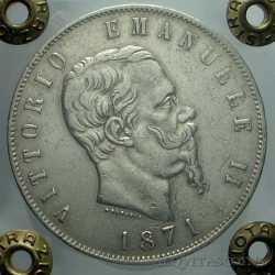 Vitt. Eman. II - 5 Lire 1871 M
