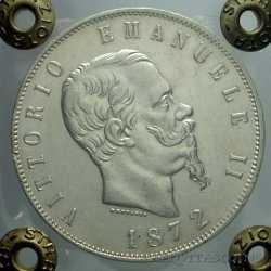 Vitt. Eman. II - 5 Lire 1872 M
