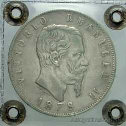 Vitt. Eman. II - 5 Lire 1878 R - 2R