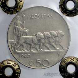 Vitt. Eman. III - 50 Cent 1920 R
