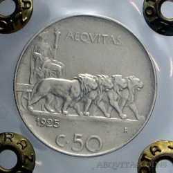Vitt. Eman. III - 50 Cent 1925 L. R.