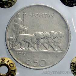 Vitt. Eman. III - 50 Cent Leo. 1919 R
