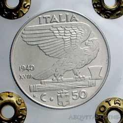 Vitt. Eman. III - 50 Cent 1940 Ant