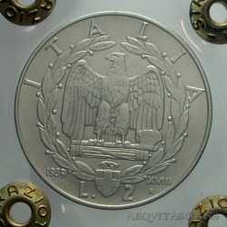 Vitt. Eman. III - 2 Lire 1939 XVIII Ant